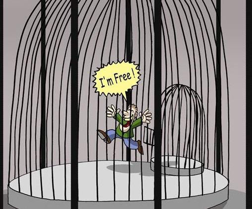 Illusie van vrijheid en werkelijke vrijheid